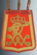 """Photo 1 : SABRETACHE TROUPE DU RÉGIMENT DE HUSSARDS DE LA GARDE """"LEIB-GARDE-HUSAREN-REGIMENT"""" ou du """"KÖNIG WILHELM I"""" (1. Rheinisches) Nr.7"""