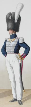 1824. Garde Royale. Infanterie. (2e Régiment), Capitaine Adjudant-Major, Lieutenant de Fusiliers. (2)