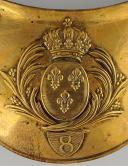 Photo 2 : HAUSSE-COL D'OFFICIER SUPÉRIEUR DU 8ème RÉGIMENT D'INFANTERIE DE LIGNE, MODÈLE 1814, RESTAURATION.