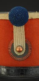 Photo 2 : SHAKO TROUPE DU 1er RÉGIMENT DE HUSSARDS, modèle 1845, Seconde République.