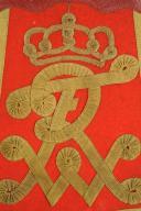 """Photo 2 : SABRETACHE TROUPE DU RÉGIMENT DE HUSSARDS DE LA GARDE """"LEIB-GARDE-HUSAREN-REGIMENT"""" ou du """"KÖNIG WILHELM I"""" (1. Rheinisches) Nr.7"""