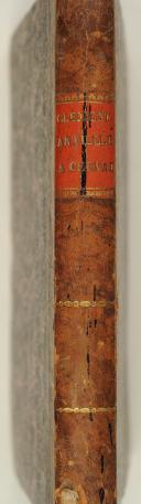 CLÉMENT. (Christophe). Essai sur l'artillerie à cheval. Pavie, Capelli, 1808, in-8, demi-rel. bas. fauve, tr. jasp. (2)