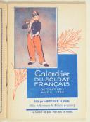 Photo 2 : Calendrier du soldat français – octobre 1933 – avril 1935