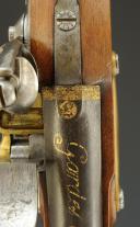 Photo 6 : PISTOLET DES GARDES DU CORPS DE LA MAISON MILITAIRE DU ROI, premier modèle, 1814-1816, PREMIÈRE RESTAURATION.