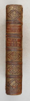 ORDONNANCE du ROI de 1716 à 1719.