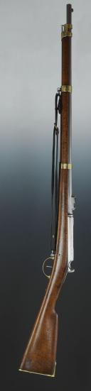 Photo 1 : CARABINE DE CAVALERIE CHASSEPOT, MODÈLE 1866 AFFECTÉ AU 9ème RÉGIMENT DE DRAGONS, SECOND EMPIRE, GUERRE FRANCO-ALLEMANDE DE 1870.