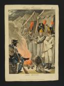 Photo 1 : MARTINET, GRAVURE REHAUSSÉE EN COULEURS, SCÈNE MILITAIRE, PREMIER EMPIRE.