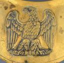 Photo 2 : HAUSSE-COL D'OFFICIER DE LA GARDE NATIONALE, MODÈLE 1850, PRÉSIDENCE DE LOUIS-NAPOLÉON.