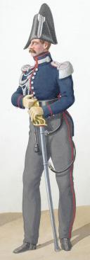 Photo 2 : 1830. Garde Royale. Cuirassiers (1er Régiment). Maréchal des Logis, Adjudant Sous-Officier.