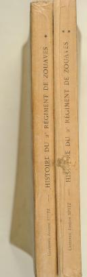 Photo 2 : SPITZ (Lt. J.). Histoire du 2e régiment de Zouaves.