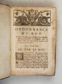 Photo 3 : ORDONNANCE du ROI de 1716 à 1719.