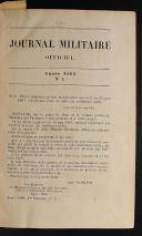 Photo 3 : JOURNAL MILITAIRE OFFICIER ANNÉE 1868 (1er semestre).