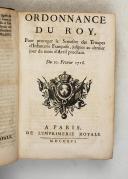 Photo 4 : ORDONNANCE du ROI de 1716 à 1719.