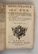 Photo 5 : ORDONNANCE du ROI de 1716 à 1719.
