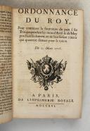 Photo 6 : ORDONNANCE du ROI de 1716 à 1719.