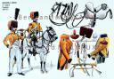 RIGO (ALBERT RIGONDAUD) : LE PLUMET PLANCHE 202 : CHASSEURS A CHEVAL 14e REGIMENT TROMPETTES 1808-1811.