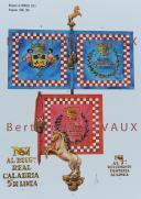 RIGO (ALBERT RIGONDAUD) : LE PLUMET PLANCHE D28: DRAPEAUX ÉTENDARDS ROYAUME DE NAPLES (II) 1806-1815