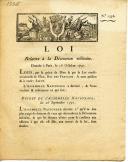 ORDONNANCE DU 16 OCTOBRE 1791 RELATIVE À LA DÉCORATION MILITAIRE, RÉVOLUTION. (1)