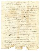 LETTRE DU SOLDAT MELOU au citoyen Fanon, aubergiste à Chartres, pour transmission à son père Pierre MELOU à Chartres, 11 thermidor (année ?).