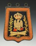 REPRODUCTION D'UNE SABRETACHE TROUPE DE L'ARTILLERIE A CHEVAL DE LA GARDE IMPERIALE modèle 1806, Premier Empire, XXème siècle.