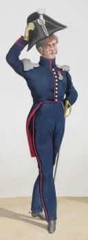 Photo 2 : 1824. Garde Royale. Infanterie. Major (5e Régiment), Grenadier (6e Régiment).