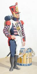 Photo 2 : 1816-1820. Artillerie à Pied. Tambour, Musicien.