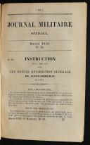 Photo 6 : JOURNAL MILITAIRE OFFICIER ANNÉE 1858 (1er semestre).