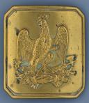 Photo 1 : PLAQUE DE CEINTURON D'OFFICIER D'INFANTERIE OU DE LA GARDE NATIONALE, MODÈLE 1848, SECONDE RÉPUBLIQUE.