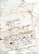 Photo 1 : DOSSIER DU SERGENT MAJOR JEAN BAPTISTE GRAPIN, 1ère Légion de réserve. Documents de 1806 à 1810.