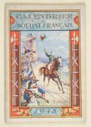 Calendrier du soldat français – octobre 1937 à septembre 1939