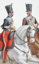 Photo 2 : 1830. Hussards. Chef d'Escadron (6e Régiment). Capitaine-Instructeur (2e Régiment).
