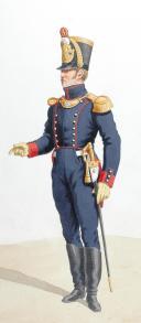 Photo 2 : 1816-1820. Artillerie à Pied. Colonel en tenue de Ville, Capitaine-Commandant en grande tenue.
