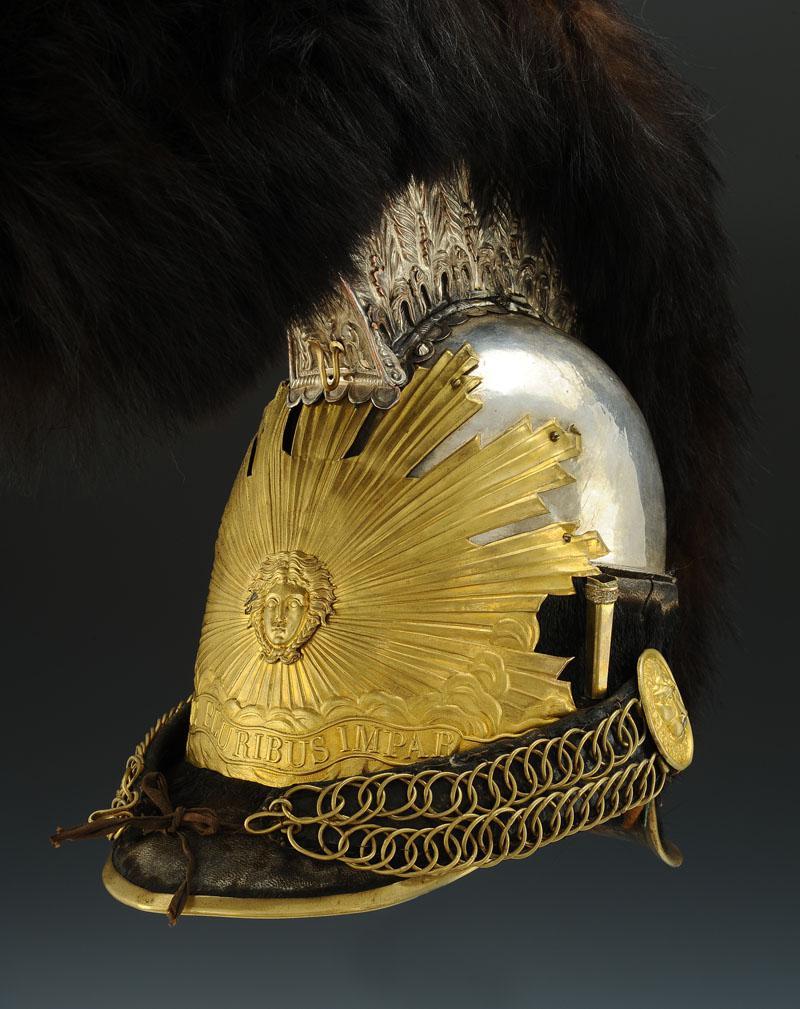 casque des gardes du corps du roi de la maison militaire