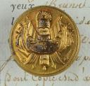 BOUTON D'UNIFORME D'OFFICIER GÉNÉRAL, MODÈLE 1814, PREMIÈRE RESTAURATION. (1)