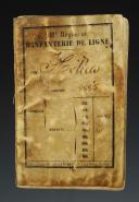 LIVRET MILITAIRE DU SOLDAT HELIAS DU 11ème RÉGIMENT D'INFANTERIE DE LIGNE AYANT FAIT LA CAMPAGNE D'ITALIE EN 1860, Second Empire.