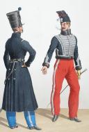 Photo 2 : 1830.Hussards. Officier (4e Régiment), Officier (6e Régiment).