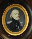 Photo 2 : CHEF D'ESCADRON DE GENDARMERIE : PORTRAIT MINIATURE, RESTAURATION.