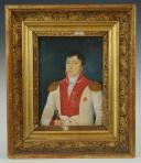 Chevalier de l'Ordre de Santo Stefano (Saint Etienne) de Toscane  : portrait miniature, probablement à l'époque du Royaume d'Etrurie (1801-1806). (1)