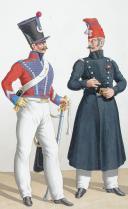 Photo 2 : 1830. Hussards. Maréchal des Logis, Adjudant-Ouvrier (4e Régiment).