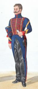 Photo 2 : 1824 Artillerie à Cheval. Maréchal des Logis Fourrier, Lieutenant en petite tenue.