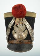 SHAKO D'OFFICIER DE GRENADIER DE LA GARDE NATIONALE, TYPE 1830, MONARCHIE DE JUILLET. (3)