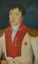 Chevalier de l'Ordre de Santo Stefano (Saint Etienne) de Toscane  : portrait miniature, probablement à l'époque du Royaume d'Etrurie (1801-1806). (3)
