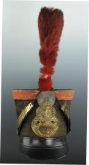 Photo 4 : Grenadiers shako of the 2nd Battalion of the 40th Line Infantry Regiment, model 1821, Restoration.