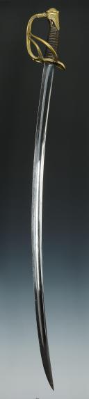 Photo 7 : SABRE D'OFFICIER DE CAVALERIE LÉGÈRE, MODÈLE 1822, SECOND EMPIRE.