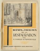 R. MABILLE de PONCHEVILLE Scènes et tableaux de la Restauration  (1)