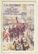 Calendrier du soldat français – octobre 1934 à avril 1936 (1)