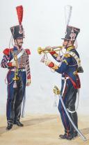 Photo 2 : 1824 Artillerie à Cheval. Brigadier Trompette, Trompette, Maréchal des Logis Trompette.