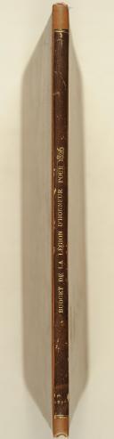 Photo 2 : LÉGION D'HONNEUR. Budget de l'ordre royal de la légion d'honneur pour l'année 1826.