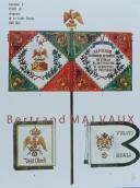 RIGO (ALBERT RIGONDAUD) : LE PLUMET PLANCHE D23 : DRAPEAUX ÉTENDARDS ROYAUME D'ITALIE (V) GARDE ROYALE 1805-1814