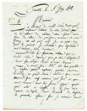 Photo 1 : LETTRE DE JEAN RENARD, en garnison à Grenoble, le 5 juin 1808, à Monsieur MOCQUEREAU, notaire à Sillé le Guillaume (Sarthe)